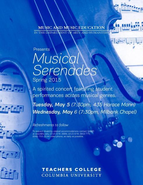 Musical Serenades Spring 2015
